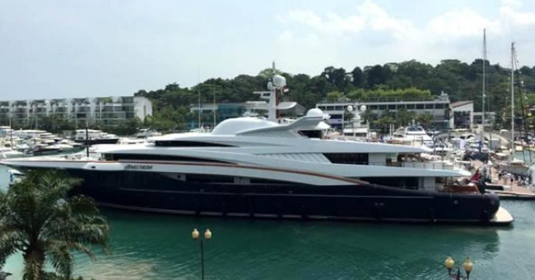 superyacht ANASTASIA at the 2015 singapore yacht show
