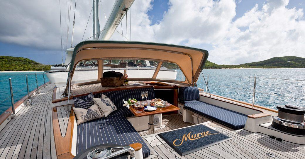 sundeck of sailing yacht MARAE