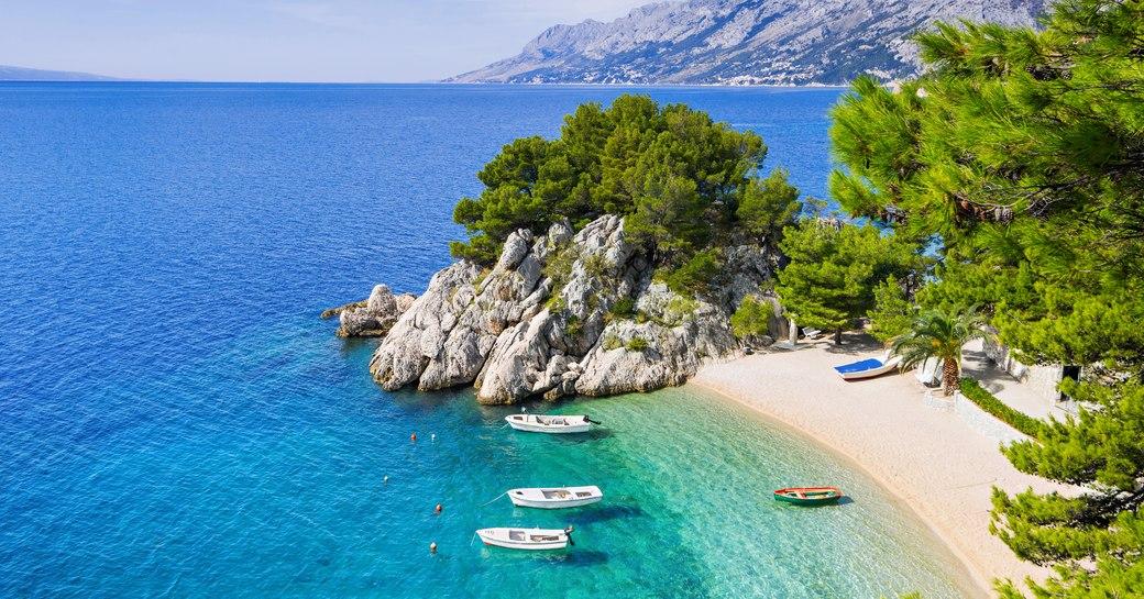 . Makarska riviera, famous landmark and travel touristic destination in Europe