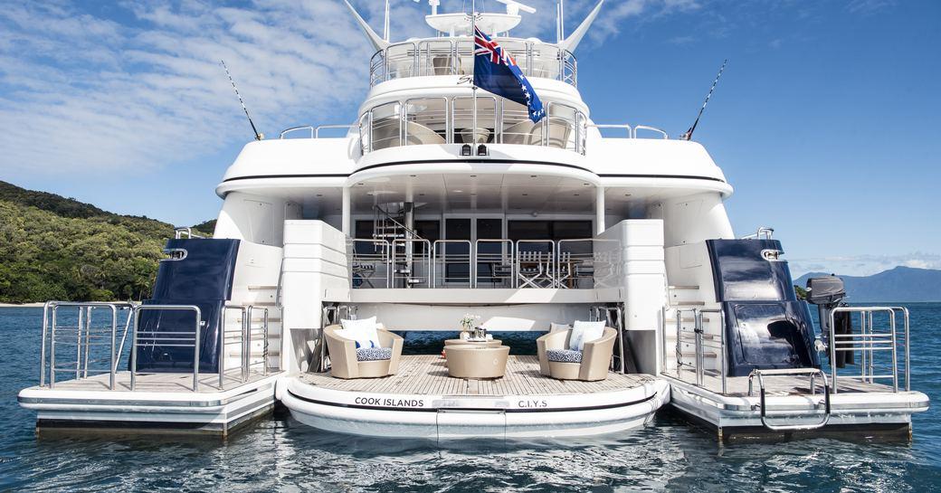 Luxury yacht SPIRIT swim platform