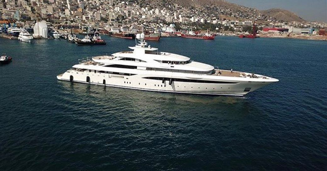 Superyacht Golden Yachts O'PTASIA on sea trials in Greece