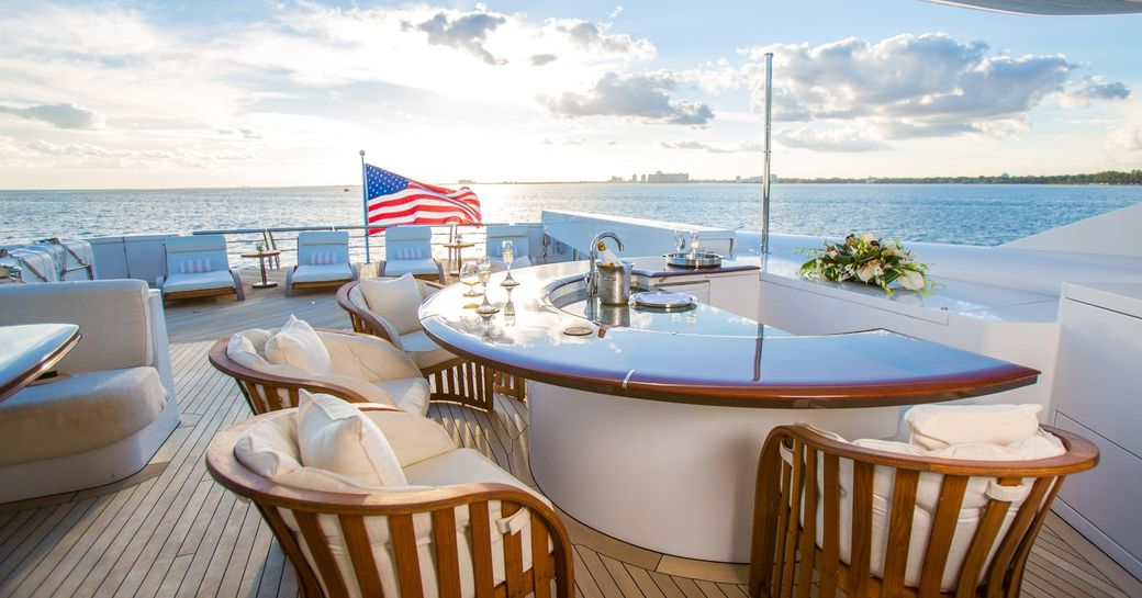 superyacht USHER available for christmas or new year's charter in the Caribbean