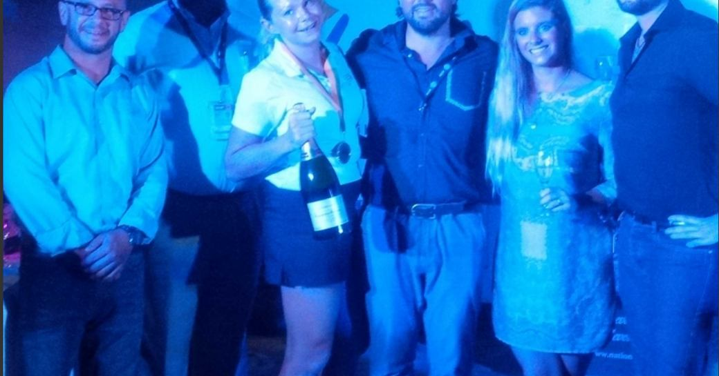 Chef Sheree Murray of sailing yach P2 picks up first place at the Antigua Charter Yacht Show with fellow crew members