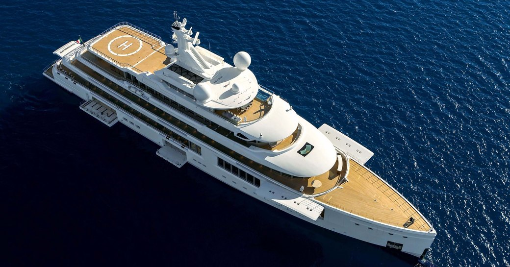 Benetti superyacht Luminosity at anchor