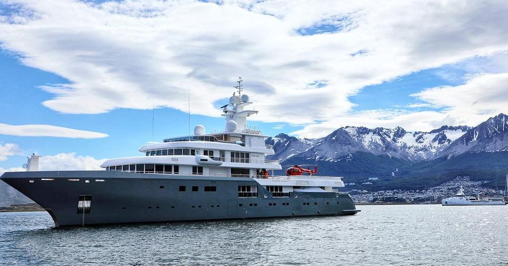 Superyacht in Antarctica