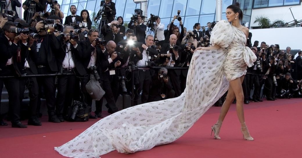 Kendall Jenner walks the red carpet at the Cannes Film Festival