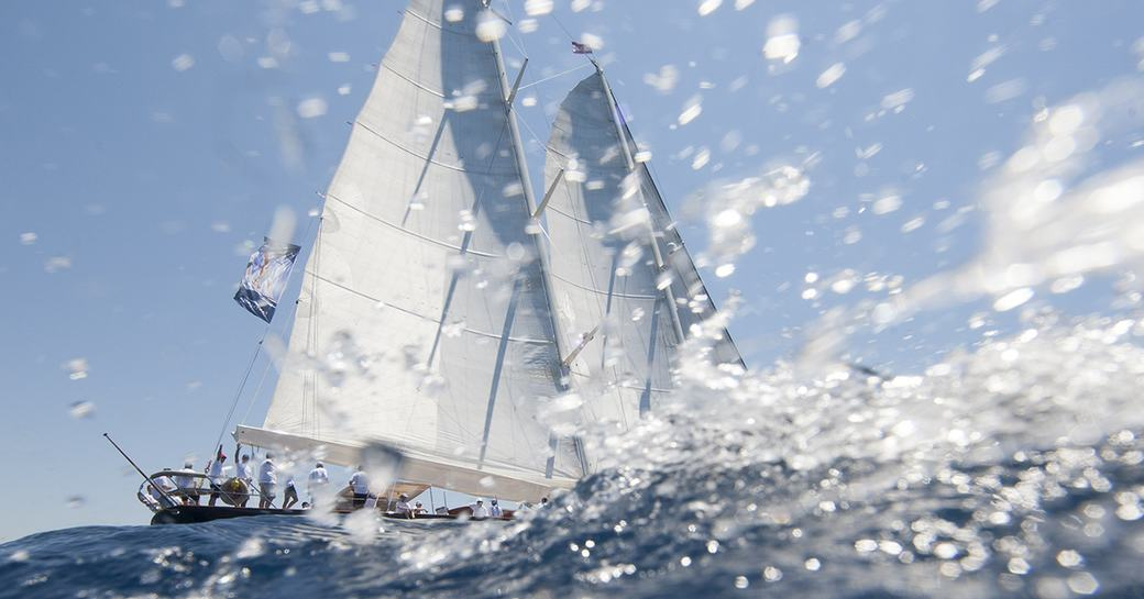 superyacht competes in the Superyacht Cup Palma