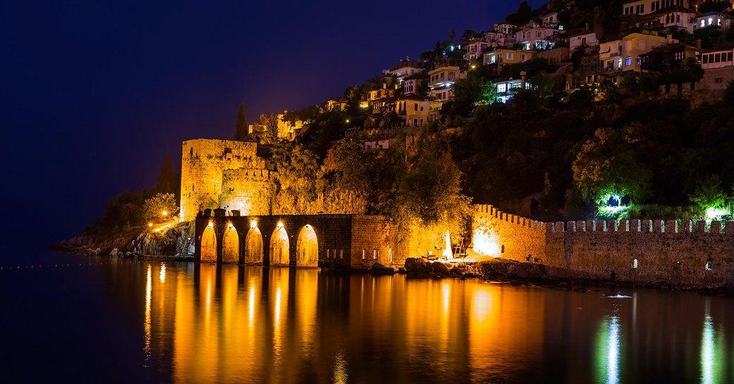 Turkish island of Tersane lights up at night