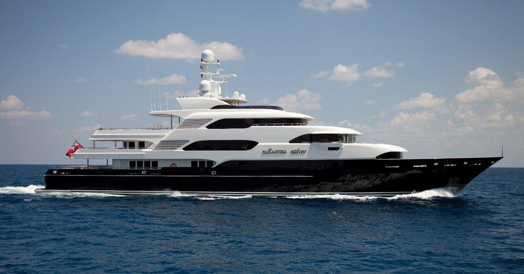 superyacht 'Martha Ann' is on show at the Palm Beach Boat Show 2017
