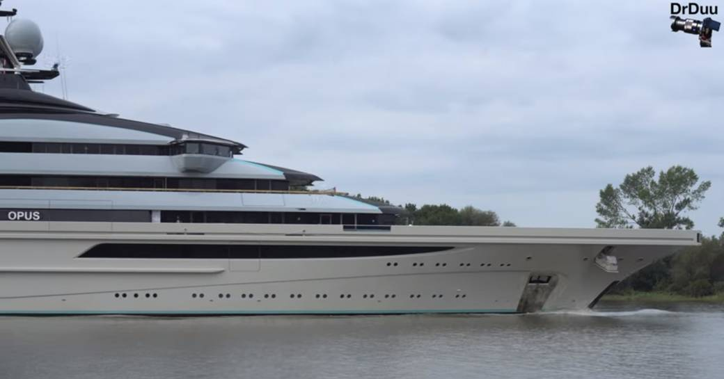 Side profile of superyacht Nord