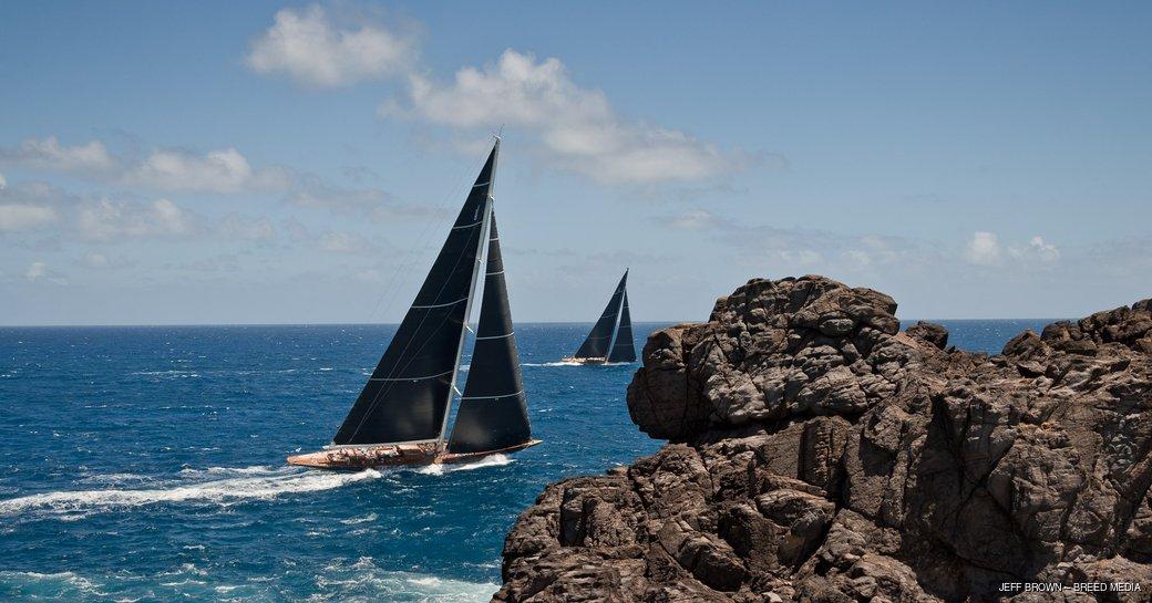 yachts underway at St Barths Bucket 2017