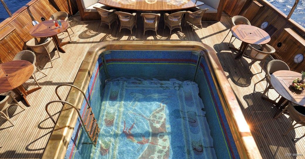 Mosaic pool onboard MY Christina O