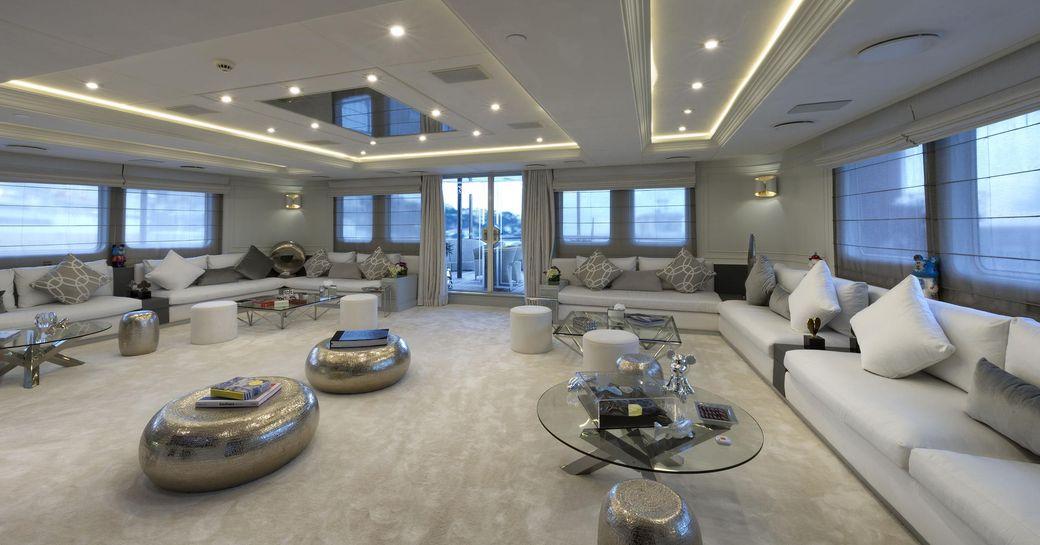 Open lounge area on Superyacht CHAKRA