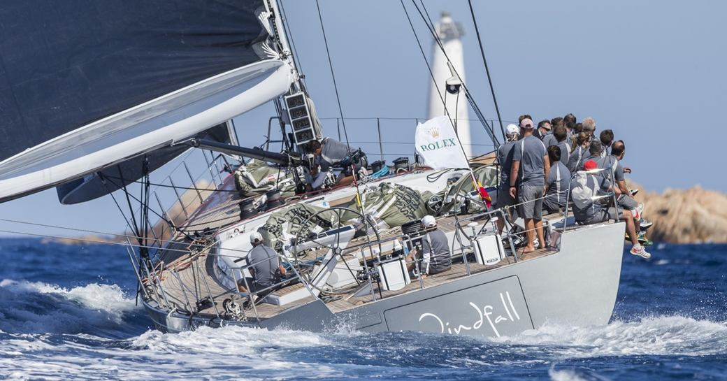 charter yacht WINDFALL competing at Les Voiles de Saint Barth