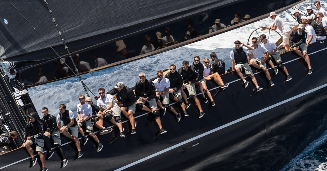 close up of a crew competing at St Barths Bucket 2017