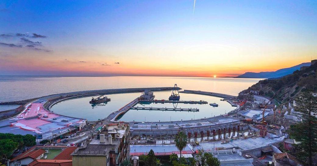 Cala del Forte Marina at sunset