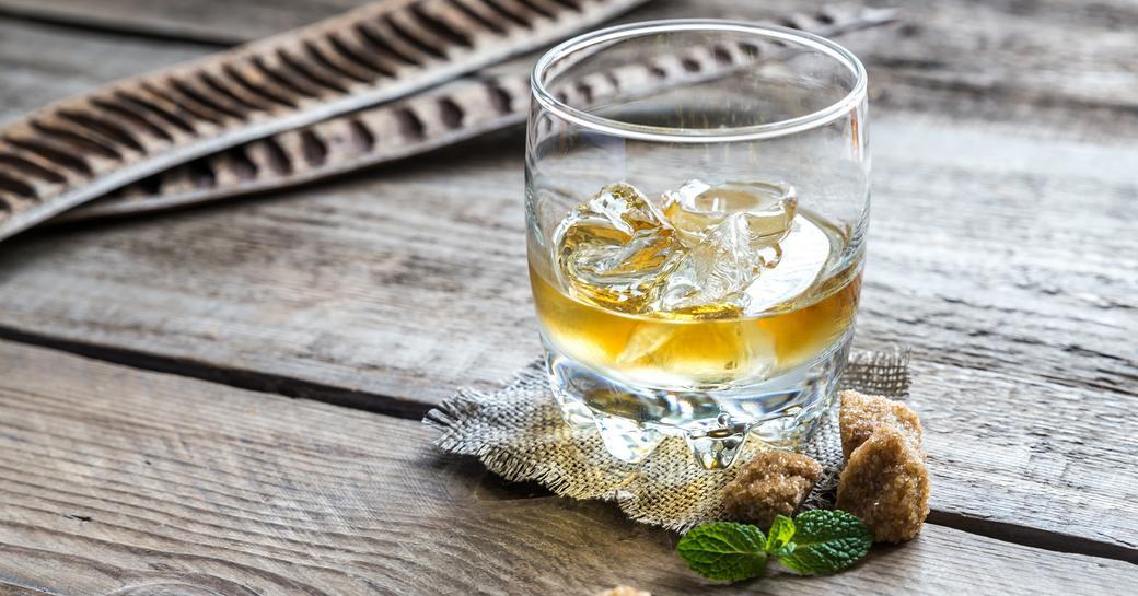 a tumbler of rum enjoyed on a Virgin Islands yacht charter