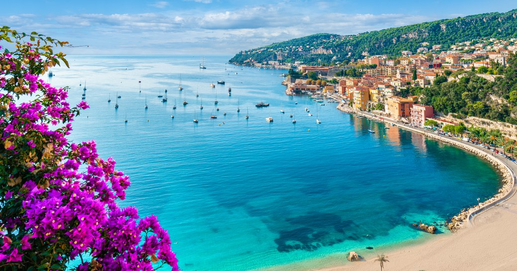 View overlooking Villefranche in South of France