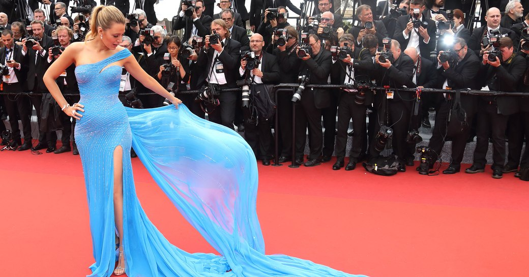 An actress on the Cannes Film Festival red carpet