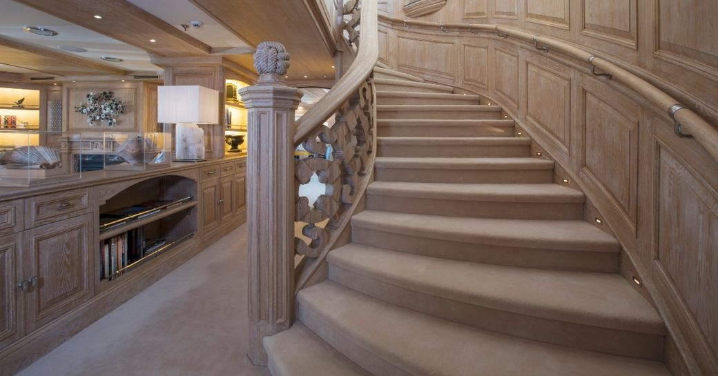 Staircase onboard MY Nero