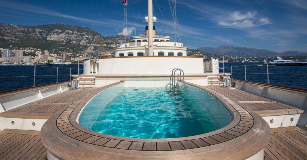 Swimming pool onboard MY Nero