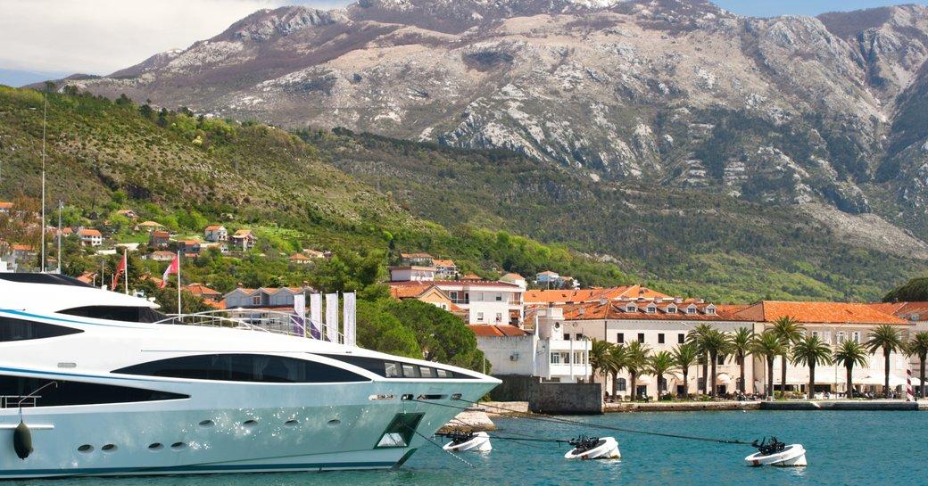 luxury yacht berths in picturesque cruising grounds of Porto Montenegro