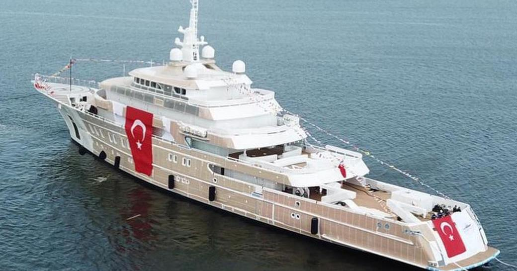 Victorious superyacht