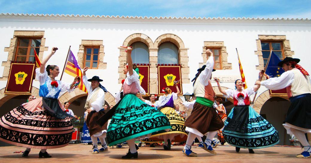 Traditional dancing in Ibiza village