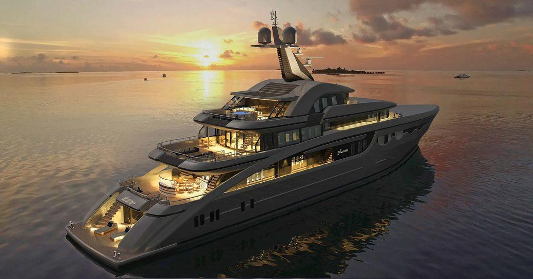 the aft decks of Abeking &Masmussen's new superyacht SOARING