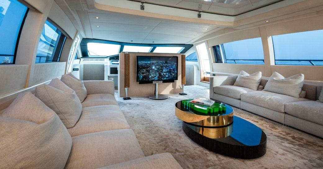 Light and airy interior of charter yacht NEOPRENE