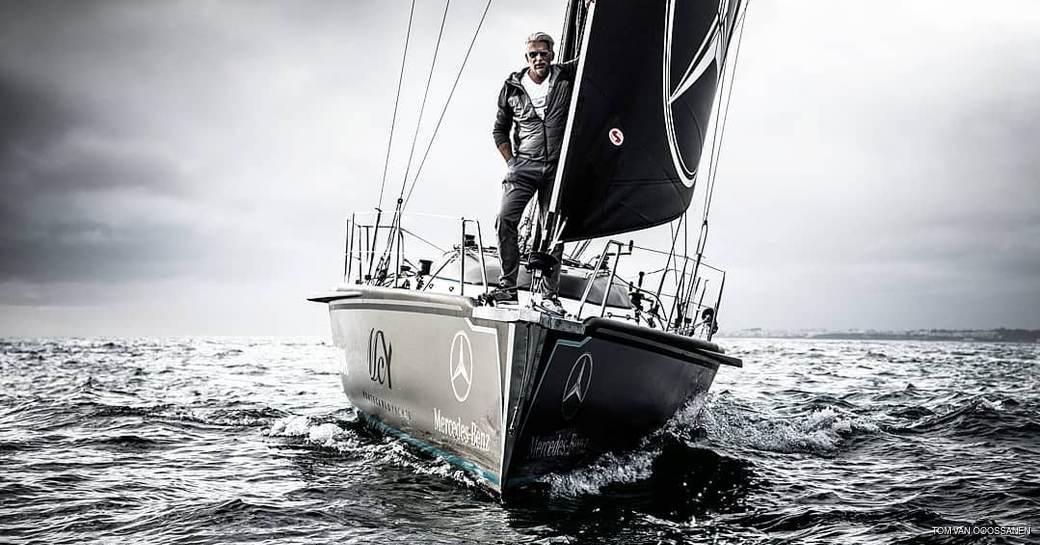 Dan Lenard on board his yacht