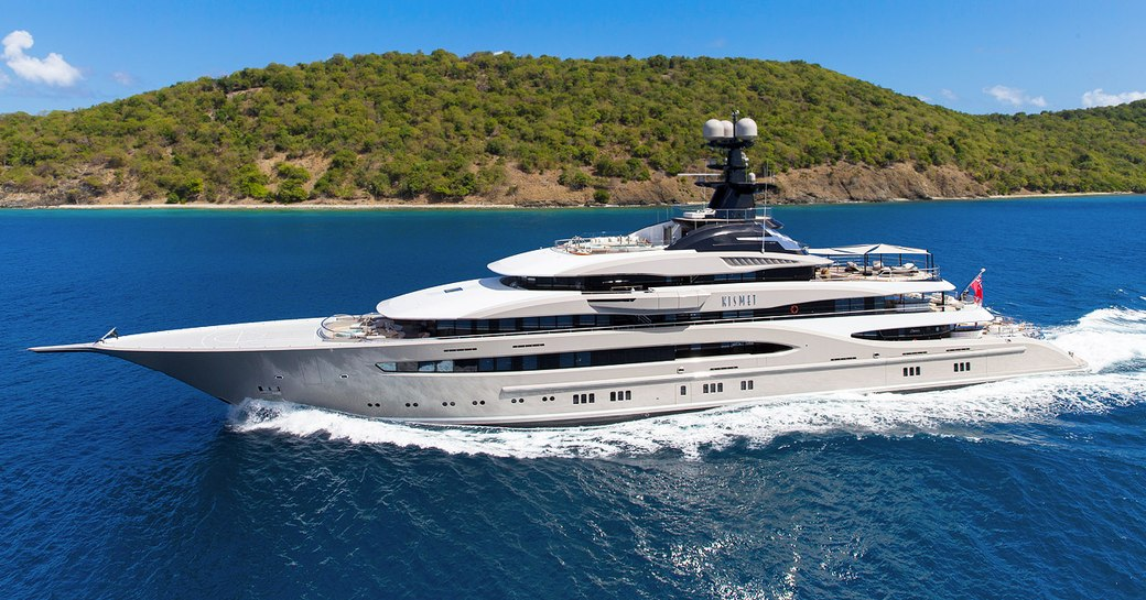 superyacht KISMET cruising on a private yacht charter