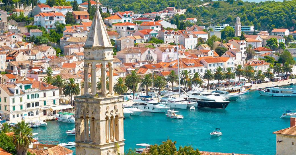 Yachts in a harbour in Croatia