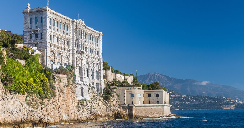 oceanographic museum of monaco on hill by the sea