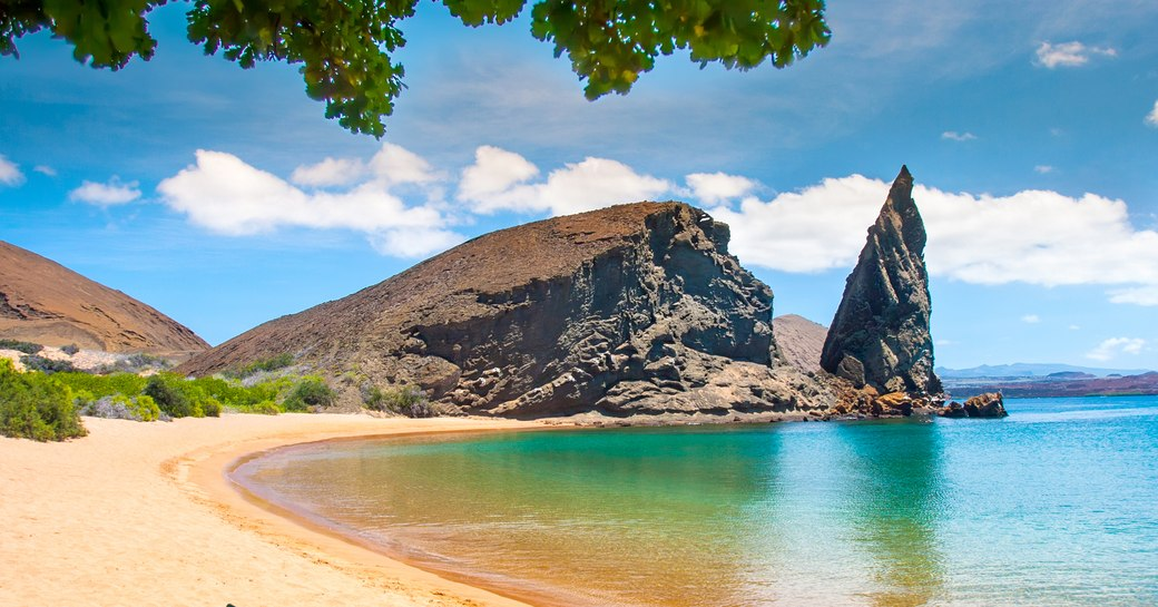 Pinnacle Rock on Bartolome beach, Galapagos