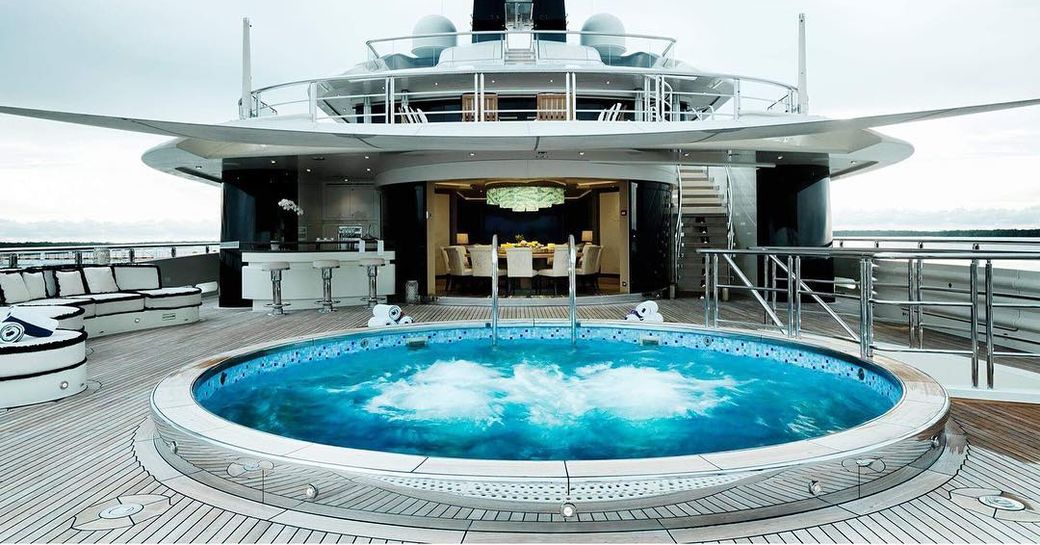 Swimming pool onboard MY tranquility