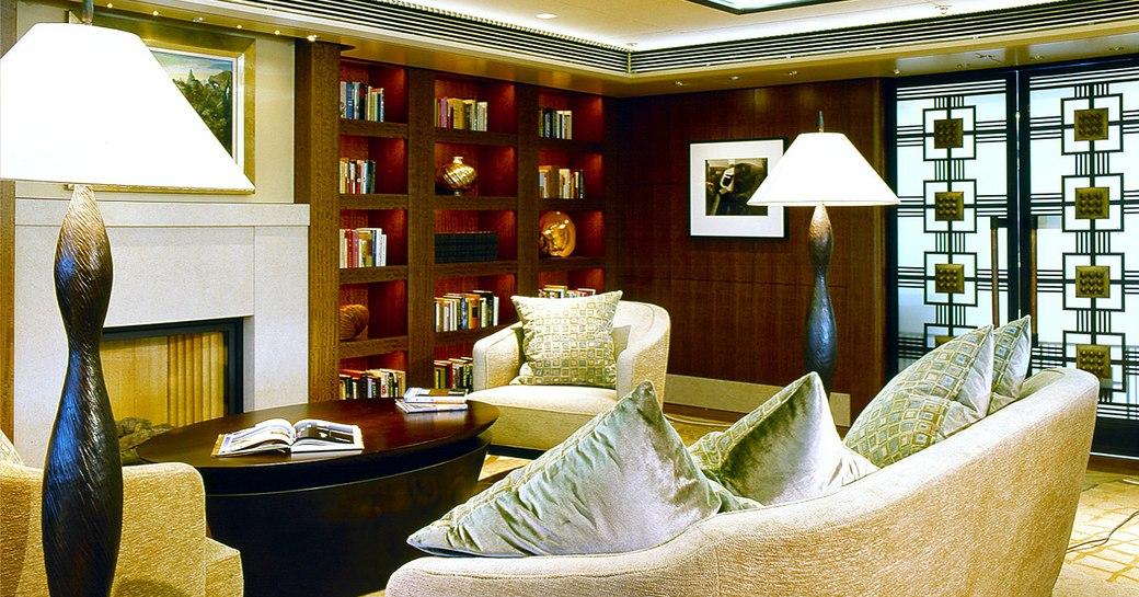 Interior shot onboard MY Octopus