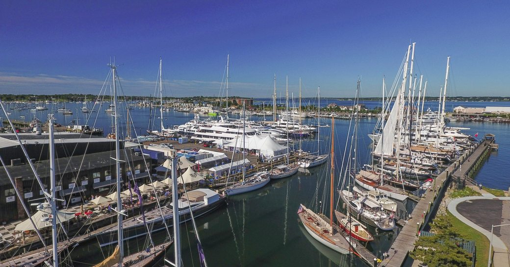 Newport Harbour during the Newport Yacht Charter Show