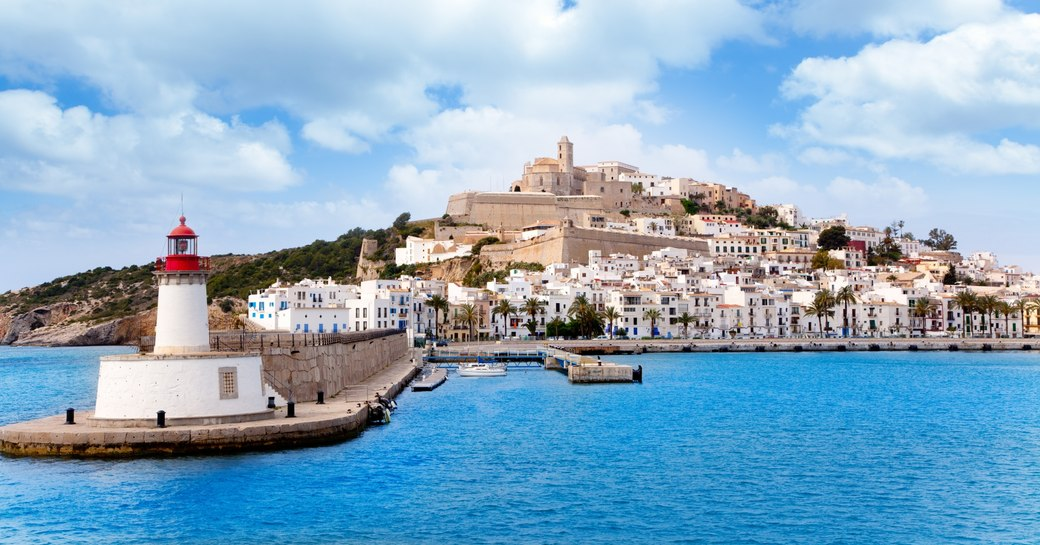 scenic Ibiza old town