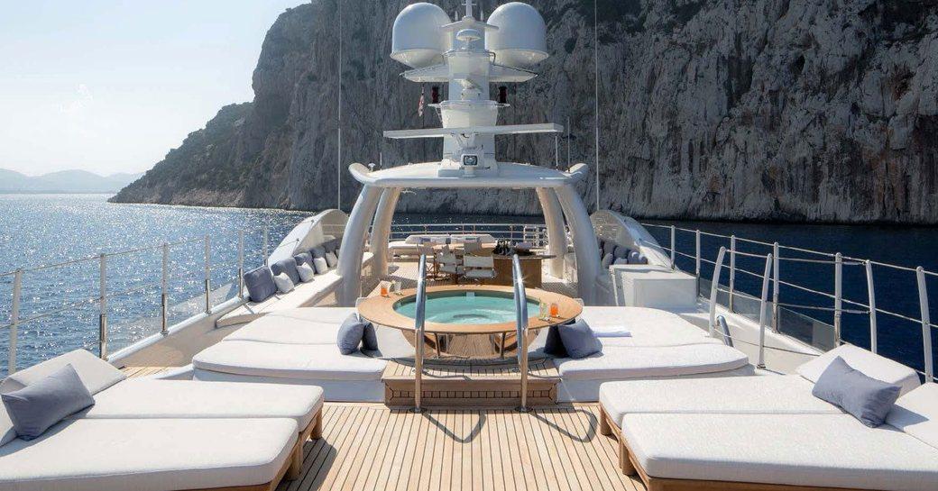Sundeck onboard MY Kamalaya