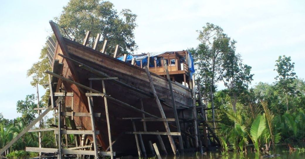 Charter yacht Dunia Baru during her construction phase