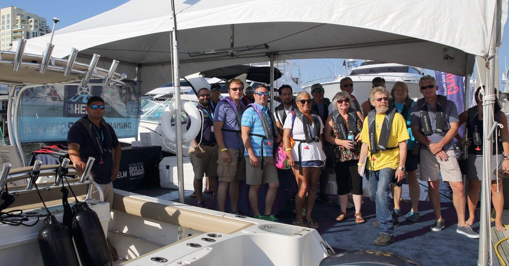 show-goers brush up on their boating skills at FLIBS
