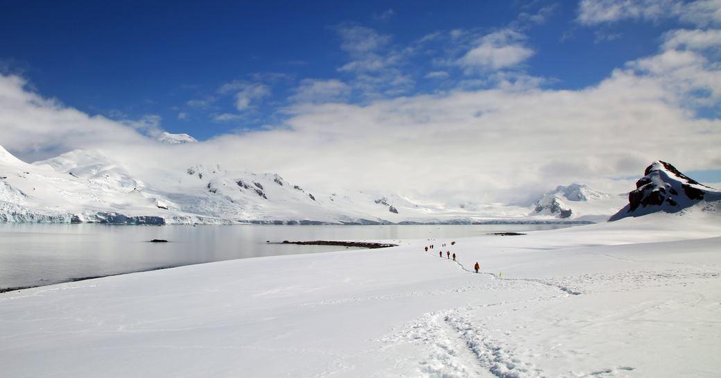 Snow in Antarctica