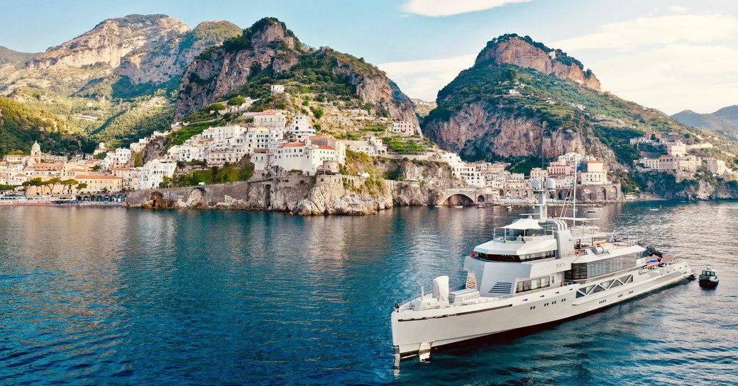 luxury yacht bold in the mediterranean