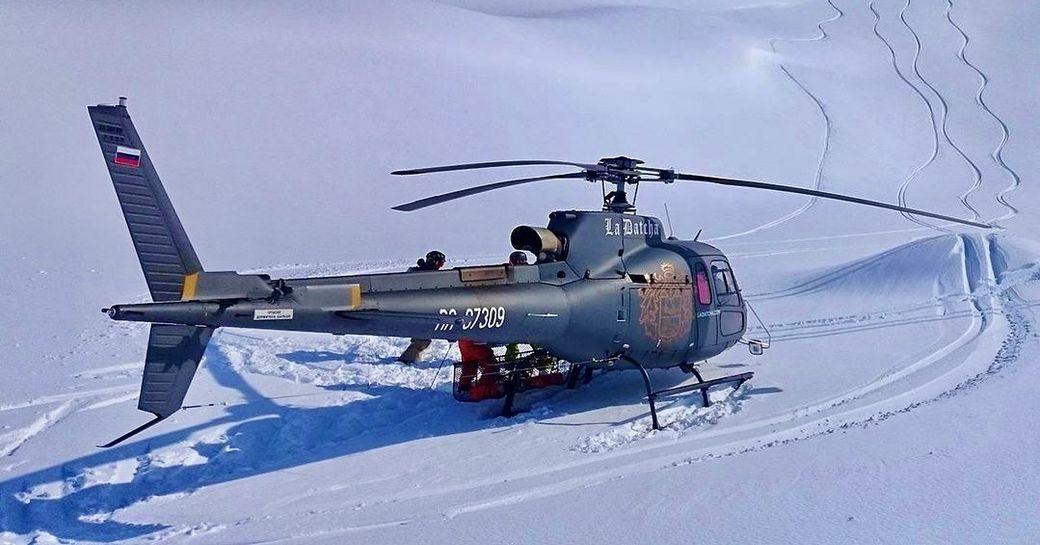La Datcha helicopter in Kamchatka