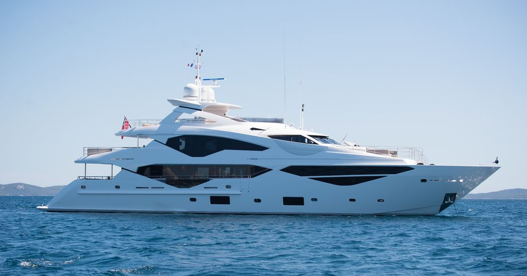 superyacht JACOZAMI cruising on a luxury yacht charter in the Mediterranean