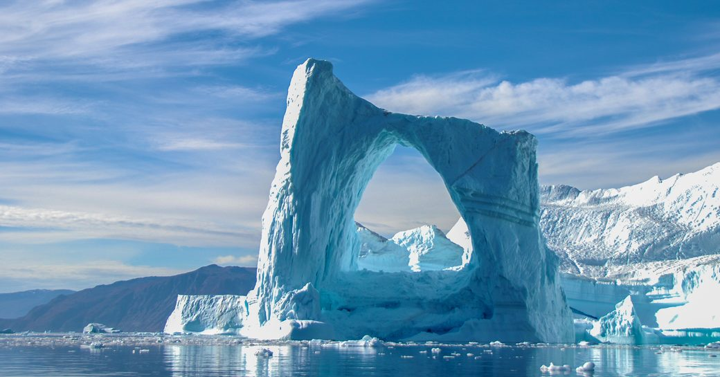 Ice in the water in Greenland
