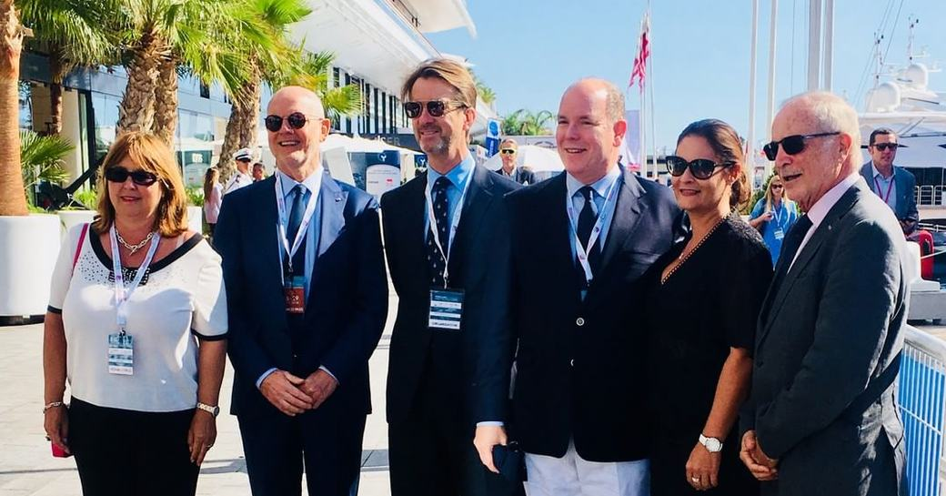 H.S.H Prince Albert II of Monaco opens Monaco Yacht Show 2018