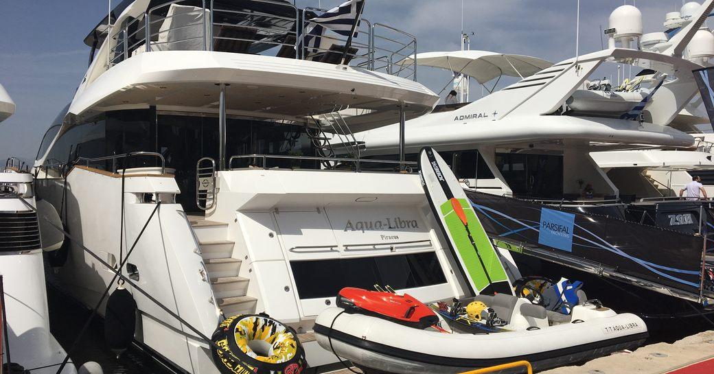 motor yacht Aqua Libra at the Mediterranean Yacht Show 2017