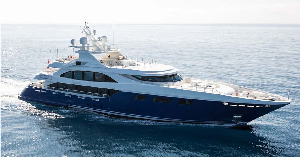 superyacht RESILIENCE cruising on charter in the Mediterranean